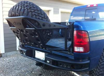 Addictive Desert Designs - ADD R5122912801NA Dimple Rear Bumper with Sensor Holes Dodge Ram 2500/3500 2010-2018 - Image 2
