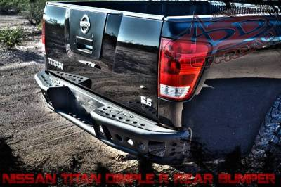 "Addictive Desert Designs - ADD R9022912801NA Dimple ""R"" Rear Bumper Nissan Titan 2005-2013 - Image 2"
