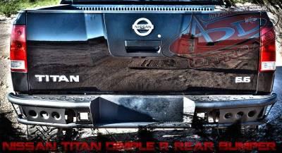 "Addictive Desert Designs - ADD R9022912801NA Dimple ""R"" Rear Bumper Nissan Titan 2005-2013 - Image 3"