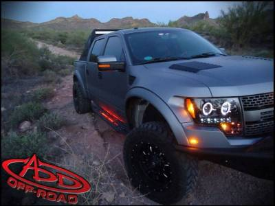 Addictive Desert Designs - ADD S011192710103 Stealth Fighter Side Steps Ford Ecoboost F150 2011-2014 - Image 1