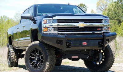 Fab Fours - Fab Fours CH14-S3061-1 Black Steel Front Bumper No Guard Chevy Silverado 2500HD/3500 2015-2019 - Image 1