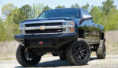 Fab Fours - Fab Fours CH14-S3061-1 Black Steel Front Bumper No Guard Chevy Silverado 2500HD/3500 2015-2019 - Image 2