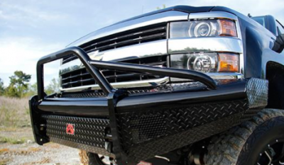 Fab Fours - Fab Fours CH14-S3062-1 Black Steel Front Bumper Pre Runner Chevy Silverado 2500HD/3500 2015-2019 - Image 2