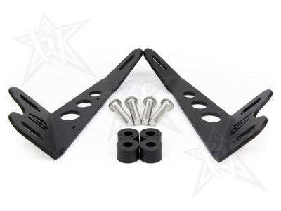 Rigid Industries - Rigid Industries 40333 Hood Light Bar Mount Kit - Image 2