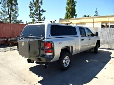 Aluminess - Aluminess 210028 Rear Bumper with Brush Guards & Swing arms Chevy Silverado 2500HD/3500 2007-2010 - Image 1