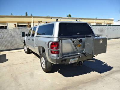 Aluminess - Aluminess 210028 Rear Bumper with Brush Guards & Swing arms Chevy Silverado 2500HD/3500 2007-2010 - Image 3