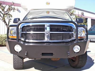 Aluminess - Aluminess 210046 Front Bumper with Brush Guard Dodge RAM 2500/3500 2006-2009 - Image 1