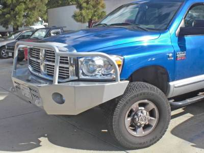 Aluminess - Aluminess 210046 Front Bumper with Brush Guard Dodge RAM 2500/3500 2006-2009 - Image 2