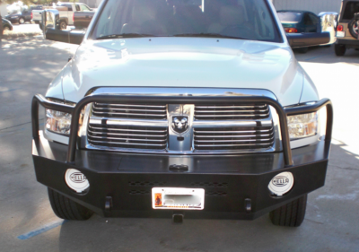 Aluminess - Aluminess 210173 Front Bumper with Brush Guard Dodge RAM 2500/3500 2010-2018 - Image 1