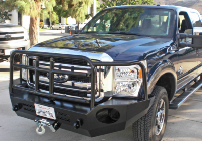 Aluminess - Aluminess 210228 Front Bumper with Brush Guard Ford F250/F350 2011-2016 - Image 1