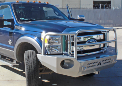 Aluminess - Aluminess 210228 Front Bumper with Brush Guard Ford F250/F350 2011-2016 - Image 2