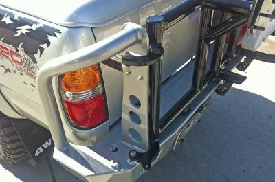 Aluminess - Aluminess 210233 Rear Bumper with Swing Arms Toyota Tacoma 2001-2004 - Image 3