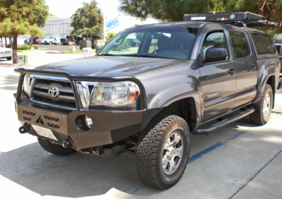Aluminess - Aluminess 210099 Front Bumper with Brush Guard Toyota Tacoma 2005-2011 - Image 3