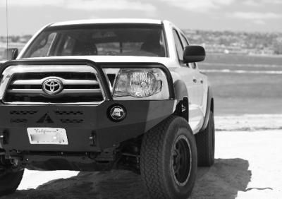 Aluminess - Aluminess 210099 Front Bumper with Brush Guard Toyota Tacoma 2005-2011 - Image 4