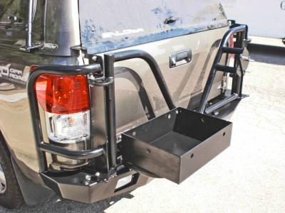 Aluminess - Aluminess 210081 Rear Bumper with Brush Guard & Swing Arms Toyota Tundra 2007-2013 - Image 2