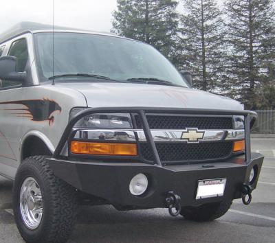 Aluminess - Aluminess 210044.1 Front Bumper Chevy Express Van 2003-2016 - Image 1