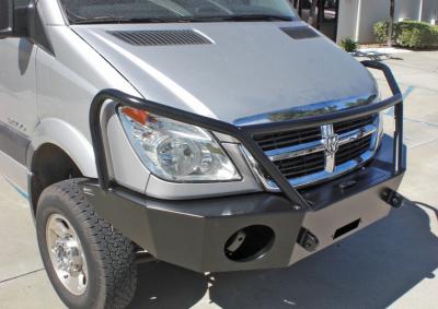 Aluminess - Aluminess 210166 Winch Front Bumper with Brush Guard Winch Ready Dodge Sprinter 2007-2013 - Image 4