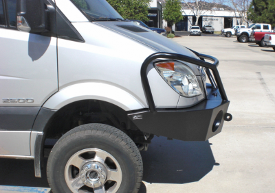 Aluminess - Aluminess 210166 Winch Front Bumper with Brush Guard Winch Ready Dodge Sprinter 2007-2013 - Image 5