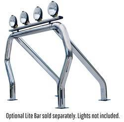 Exterior Lighting - Light Bar - Go Rhino - Go Rhino 9009519SSS Classic Off-Road Style Bed Bars Kit
