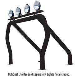 Exterior Lighting - Light Bar - Go Rhino - Go Rhino 9009590SSB Classic Off-Road Style Bed Bars Kit