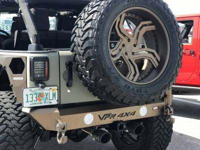 VPR 4x4 - VPR 4x4 VPR-123-CSC Rear Bumper with Tire Carrier Jeep Wrangler JK 2007-2018 - Image 4