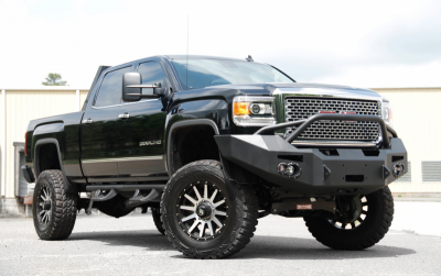 Fab Fours - Fab Fours GM14-A3152-1 Winch Front Bumper with Pre-runner Bar GMC 2500HD/3500 2015-2019 - Image 2