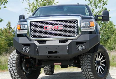 Fab Fours - Fab Fours GM14-C3151-1 Winch Front Bumper with Sensors GMC 2500HD/3500 2015-2019 - Image 1