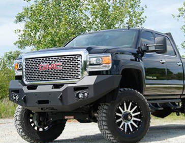 Fab Fours - Fab Fours GM14-C3151-1 Winch Front Bumper with Sensors GMC 2500HD/3500 2015-2019 - Image 2