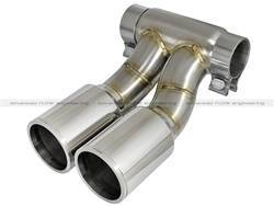 Exhaust Pipes and Tail Pipes - Exhaust Tail Pipe Tip - aFe Power - aFe Power 49C36413-P MACH Force-Xp Exhaust Tip