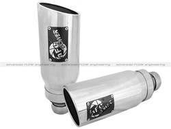 Exhaust Pipes and Tail Pipes - Exhaust Tail Pipe Tip - aFe Power - aFe Power 49C42046-P MACH Force-Xp Exhaust Tip