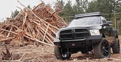 Fab Fours - Fab Fours DR13-K2961-1 Black Steel Front Bumper No Guard Dodge 1500 2013-2018 *Not Sport* - Image 2