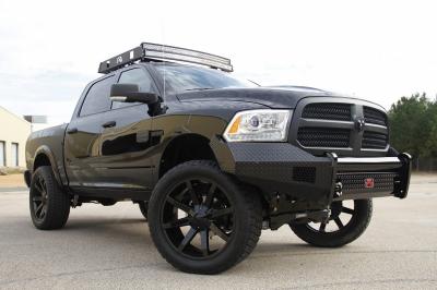 Fab Fours - Fab Fours DR13-K2961-1 Black Steel Front Bumper No Guard Dodge 1500 2013-2018 *Not Sport* - Image 3