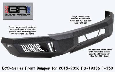 Body Armor - Body Armor FD-19336 Eco-Series Front Bumper Ford F150 2015-2017 - Image 3