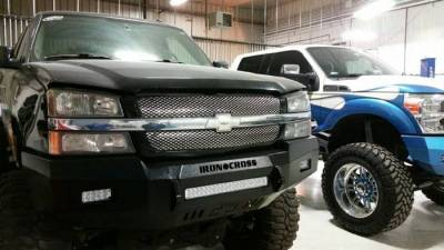 Iron Cross - Iron Cross 40-525-03 Gloss Black Low Profile Front Bumper Chevy Silverado 2500HD/3500 2003-2006 - Image 4