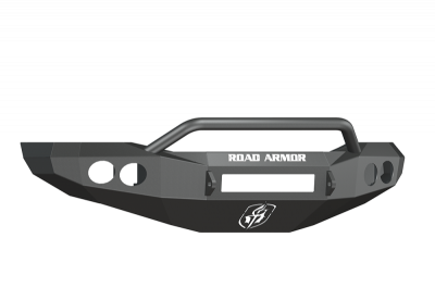 Road Armor - Road Armor 44064Z-NW Front Stealth Non-Winch Bumper with Round Light Holes + Pre-Runner Guard Dodge RAM 2500/3500 2006-2009 *BARE STEEL* - Image 2