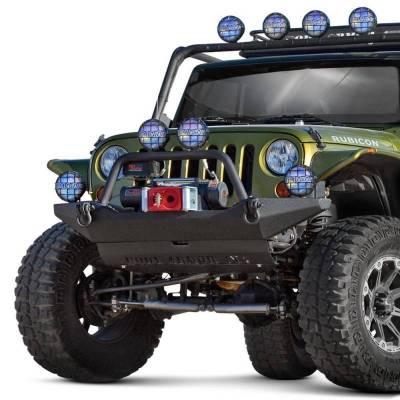 Body Armor - Body Armor JK-19531 Full Width Front Bumper with Bolt on Push Bar Jeep Wrangler JK 2007-2018 - Image 1