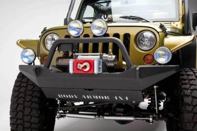 Body Armor - Body Armor JK-19531 Full Width Front Bumper with Bolt on Push Bar Jeep Wrangler JK 2007-2018 - Image 2