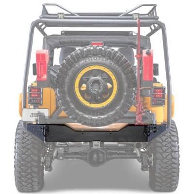 Body Armor - Body Armor JK-2395 Rear Bumper with Adjustable Shaft Jeep Wrangler JK 2007-2018 - Image 1