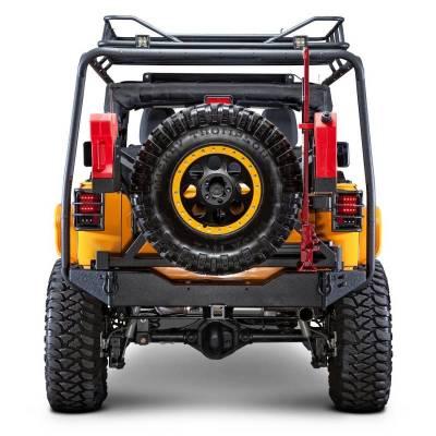 Body Armor - Body Armor JK-2395 Rear Bumper with Adjustable Shaft Jeep Wrangler JK 2007-2018 - Image 2