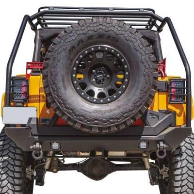 Body Armor - Body Armor JK-2396 Pro-Series Rear Bumper Jeep Wrangler JK 2007-2018 - Image 2