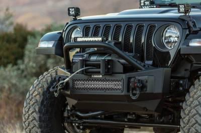 Go Rhino - Go Rhino 331101T Rockline Rear Bumper with Stubby Bar Jeep Wrangler JL 2018-2019 - Image 1
