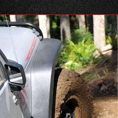 MCE Fenders - MCE Fenders FFJKG2-R Hi-Clearance Flat Flares Factory Width 2 Rear Jeep Wrangler JK 2007-2018 - Image 2