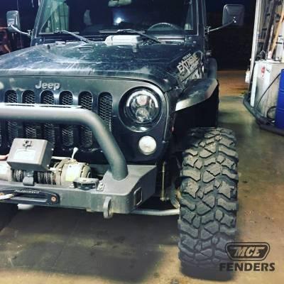 MCE Fenders - MCE Fenders FFJKG2-N-F Hi-Clearance Flat Flares Narrow Width 2 Front Jeep Wrangler JK 2007-2018 - Image 2