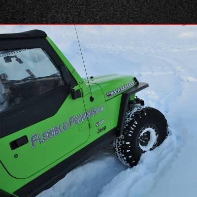 """MCE Fenders - MCE Fenders FFTJG2-3-F 2 Front 3"""" Wide Flat Fender Flares Jeep Wrangler TJ/LJ 1997-2006 - Image 3"""