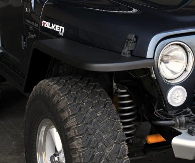 """MCE Fenders - MCE Fenders FFTJG2-6 2 Front and 2 Rear 6"""" Wide Flat Fender Flares Jeep Wrangler TJ/LJ 1997-2006 - Image 1"""