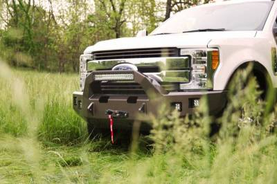 Backwoods - Backwoods BWFH25-101XXLLB Brute Front Bumper with Bull Bar LED and Winch Ready without Sensor Holes Ford F250/F350 2017-2018 - Image 2
