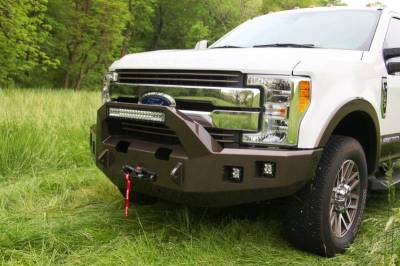 Backwoods - Backwoods BWFH25-101XXLLB Brute Front Bumper with Bull Bar LED and Winch Ready without Sensor Holes Ford F250/F350 2017-2018 - Image 3