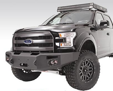 Fab Fours - Fab Fours FF09-H1951-1 Winch Front Bumper Ford F150 2009-2014 - Image 2