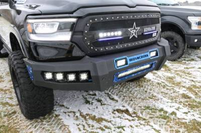 Iron Cross - Iron Cross 60-615-19 Matte Black Hardline Front Bumper Dodge RAM 1500 2019-2020 - Image 2