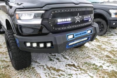 Iron Cross - Iron Cross 62-615-19 Matte Black Hardline Front Bumper with Push Bar Dodge RAM 1500 2019-2020 - Image 2